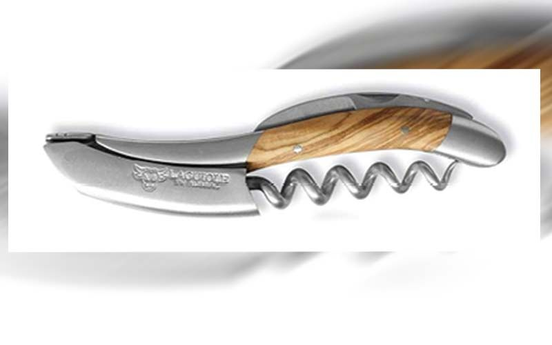 """Top Tool: """"I use pink wine keys while working so they don't walk off. If we are talking about my favorite, an olive wood Laguiole."""""""