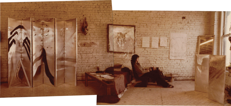 Early Work: In addition to painting, Fantuzzo was working in metals—such as the assemblages on display in her Cumberland Street studio—when she arrived in Charleston in the 1970s.