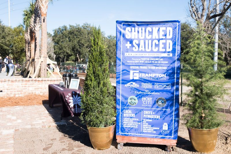 The Charleston Parks Conservancy's work on the newly renovated Rose Pavillion flourished as the venue for the first Shucked + Sauced
