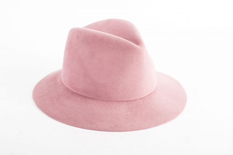 "Lola Hats ""Main Street Hat"" in ""rose,"" $248 at Out of Hand"