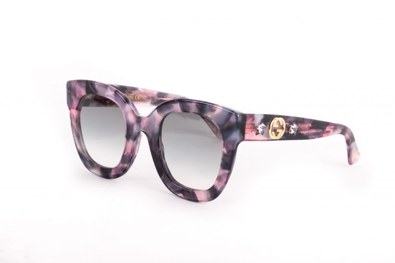 "Gucci ""Star"" sunglasses in purple acetate, $420 at Gwynn's of Mount Pleasant"