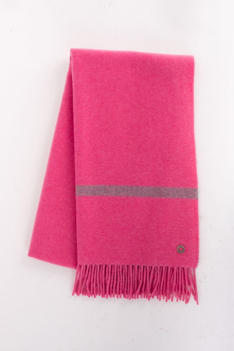 "Loro Piana ""Twelve"" scarf in pink, $1,100 at Gwynn's of Mount Pleasant"