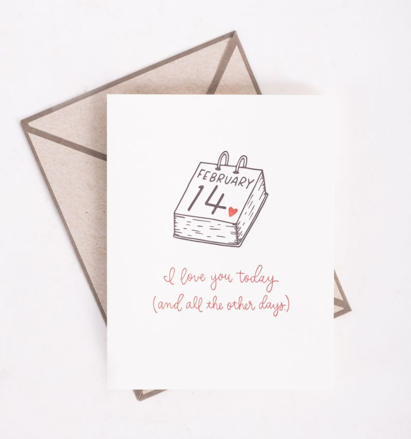 "Ink Meets Paper ""Today and all other Days"" card, $5 at Abide-A-While"
