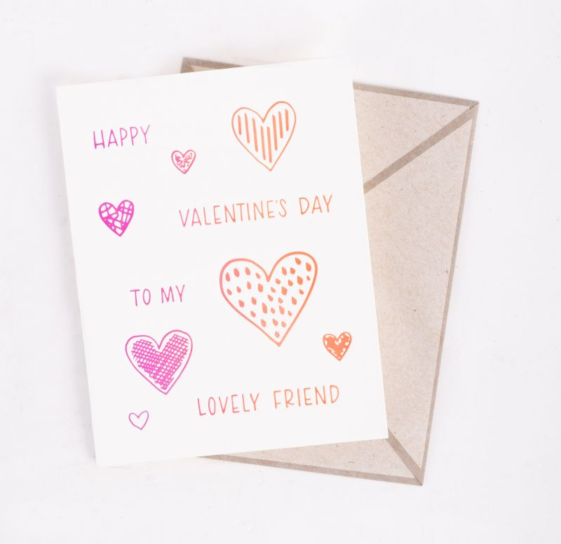 "Ink Meets Paper ""Valentine Friend"" card, $5 at Abide-A-While"