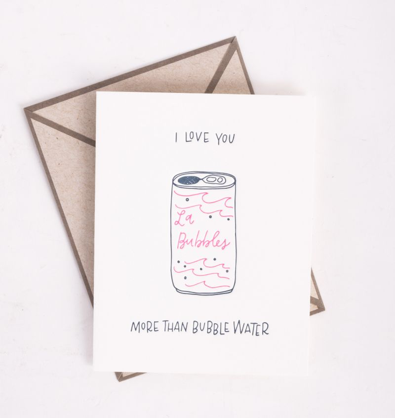 "Ink Meets Paper ""Bubble Water"" card, $5 at Abide-A-While"