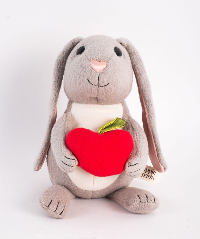"Apple Park ""Picnic Pal"" bunny, $50 at Under the Almond Trees"