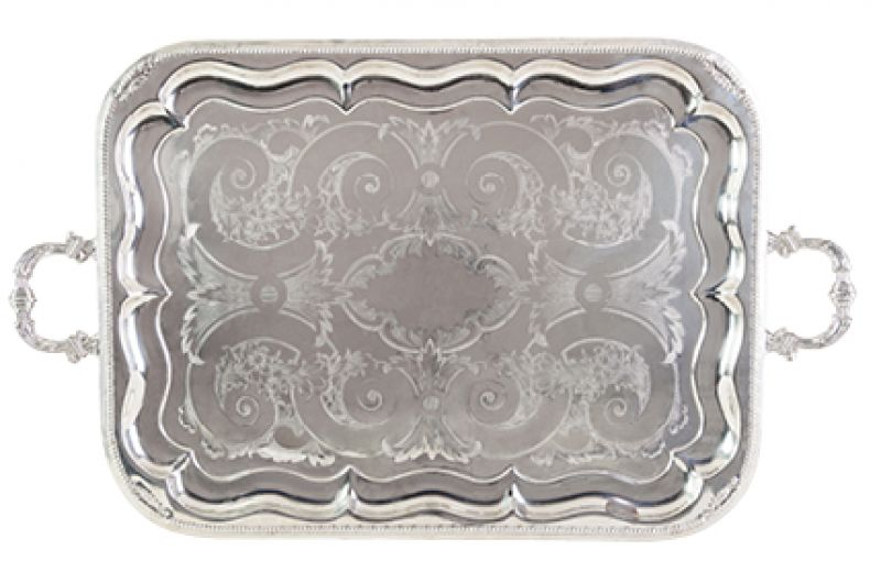 """Vintage Vibe:  """"A few of my mom's antique platters are hanging on the walls—she definitely has a presence here."""""""