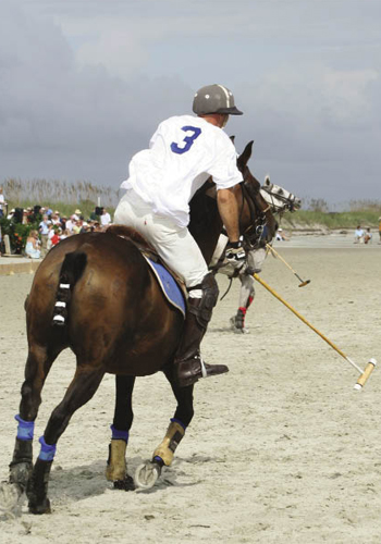 Horses are checked and turned on a dime. They collide and rear. Riders fall, sticks clash.