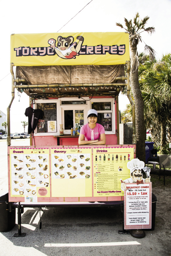 Tokyo Crepes  107 E. Ashley Ave. Monday-Saturday: 8:30 a.m.-10:30 p.m., Sunday: 8:30 a.m.- 10 p.m. (843) 580-6333 tokyocrepe.com