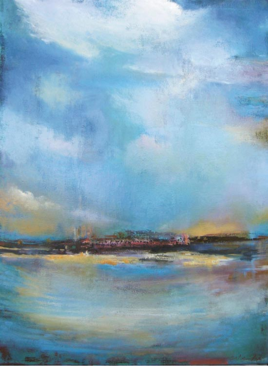 "Verde Verdi, 2010, 40"" x 30"", oil on canvas"