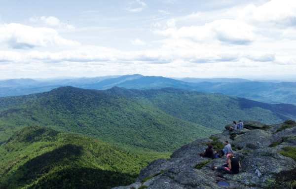 Clow loves mountains; she snapped this photo while hiking in Camel's Hump State Park in Vermont.